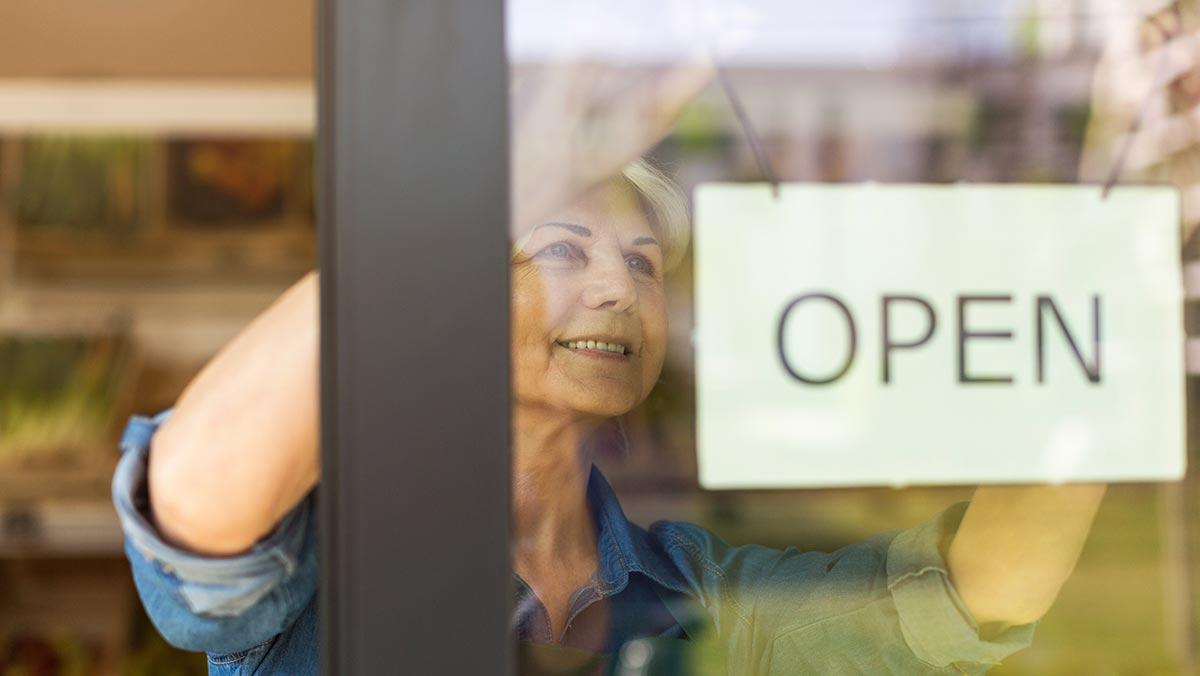 woman opens business